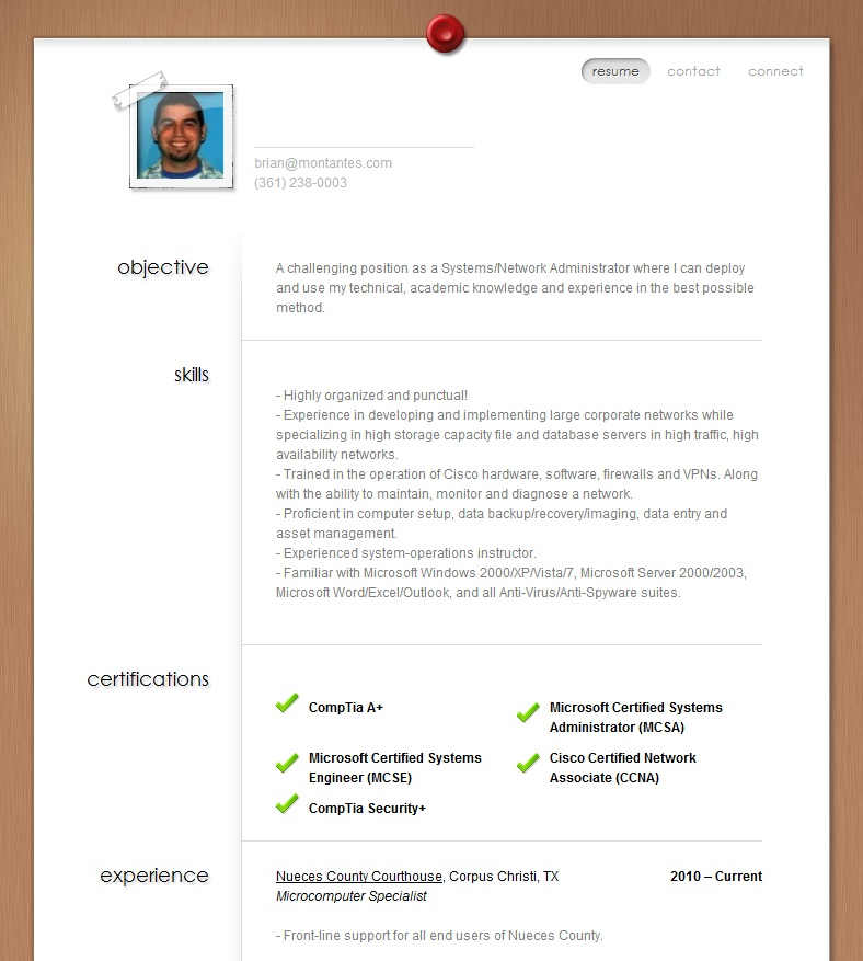 Screenshot of Brian Montantes - BrianMontantes.com 1.1